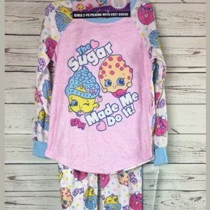 Other - Shopkins 2 Piece Pajama Set With Cozy Socks